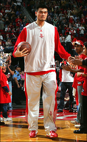 Injured or not, Yao is still a top notch shooter