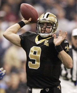 Brees leads the most prolific offense in the NFL.