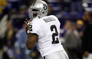 JaMarcus Russell may not have set the world on fire last night, but he did at times look like the real deal.  Photo courtesy sportsgrumblings.com.