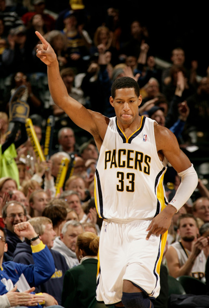 Danny Granger's rise to the top was unexpected.  So would be a Pacers' playoff appearance this season.  Photo by Ron Hoskins, Getty Images.